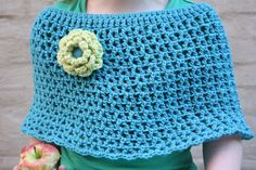 crochet poncho, Bergère de France : yarn Magic+
