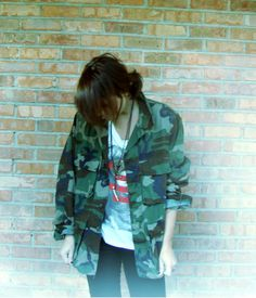 Vintage Grunge Army Military Jacket USA by BtchcraftTradingPost, $54.00