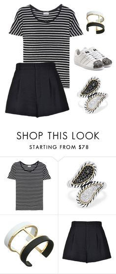 """""""Untitled #112"""" by maylamartha on Polyvore featuring Yves Saint Laurent, Effy Jewelry, Vince Camuto, RED Valentino and adidas Originals"""