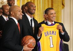 #KobeBryant, più forte di #MichaelJordan Kobe con Barack #Obama
