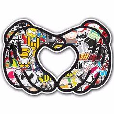Heart 2 SB1 Sticker Bomb Decal Car Macbook Laptop Funny Hoonigan Ken Block JDM #UnbrandedGeneric
