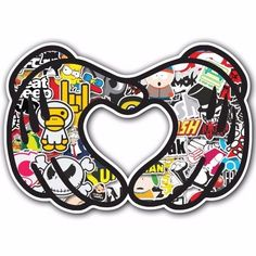 Heart 2 SB1 Sticker Bomb Decal Car Macbook Laptop Funny Hoonigan Ken Block JDM #UnbrandedGeneric