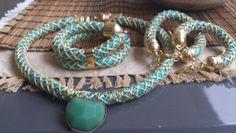 Χειροποίητα κολιέ απο ορειβατικο κορδόνι www.etsy.com/shop/bizeli Handmade Art, Handmade Necklaces, Decorating Ideas, Beaded Bracelets, Color, Etsy, Jewelry, Fashion, Moda