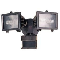 "Bronze Finish 13"" Wide 2-Light Motion Sensor Security Light - #46489   LampsPlus.com"