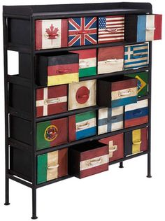 Souvenir drawers for all the places you've travelled to