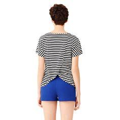 Sexy Back Tee in Stripe - Kate Spade Saturday