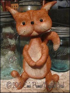Primitive Country Decor orange Cat  Doll folk art by emsprims, $18.00