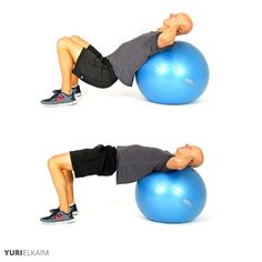 The 14 Best Ab Exercises - Stability Ball Hip Thruster