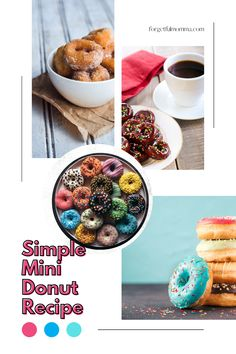 Simple mini donut recipe for your mini donut maker. Mini Donut Maker Recipes, Donut Holes, Mini Donuts, Chocolate Frosting, Easy Meals, Vegetarian, Baking, Breakfast, Simple