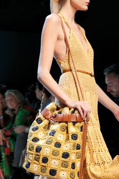 Ferragamo SS11 (detail) ... crocheted bag
