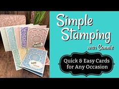 Quick and Easy Cards You Can Make for Any Occasion Card Making Tutorials, Video Tutorials, Send A Card, Hand Stamped Cards, Stampin Up Catalog, Quick Cards, Flower Cards, Anniversary Cards, Stampin Up Cards
