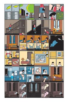 Chris Ware - love the colors & shading