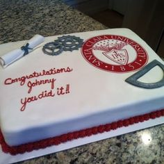 Graduation Cake for Masters in Mechanical Engineering - Yelp