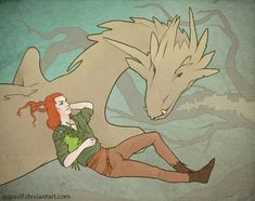 Loki, Nidhogg, mistletoe by ~spanielf on deviantART