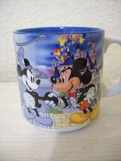 "Disney Mickey's Birthday Mug. Reads ""Mickey's Birthday In blue and black letters. Starbucks Coffee Cups, Disney Coffee Mugs, Mickey Minnie Mouse, Disney Mickey, Disney Cups, Disney Designs, Birthday Mug, Disney Kitchen, Disney Home Decor"