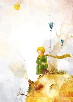 çizgili masallar: The Little Prince's Anniversary striped tales: The Little Prince's Anniversary Little Prince Quotes, The Little Prince, Watercolor Paintings Nature, Gifts For Art Lovers, 70th Anniversary, Matte Painting, Watercolour Tutorials, Watercolor Illustration, Manga Illustration