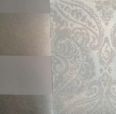 Guest room & office makeover - wallpaper