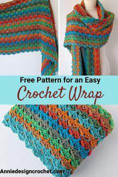 T-shirt Au Crochet, Crochet Scarf Easy, Pull Crochet, Crochet Simple, Crochet Motifs, Crochet Shirt, Crochet Vests, Crochet Scarves, Crochet Scarf For Beginners
