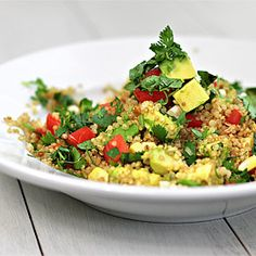Toasted Quinoa, Corn and Avocado Salad.