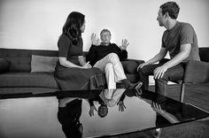 Bill Gates mentoring Mr. and Mrs. Mark Zuckerberg