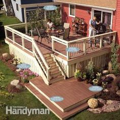 deck railing and landing