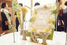 ウェルカムスペースの装飾☆ʕ•̫͡•ʔ |nico◡̈*blog 手作り結婚式