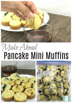 Mini Pancake Muffin The Best Make Ahead Pancake Mini Muffins – Freezer Meals 101 Pancake Bites, Pancake Muffins, Mini Pancakes, Mini Muffins, Make Ahead Freezer Meals, Freezer Cooking, Bulk Cooking, Dump Meals, Cooking Tips