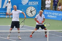 Borg & McEnroe playing Doubles together