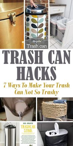 Trash Can Hacks. 7 Ways to make your trash can not so trashy. House Cleaning Checklist, Cleaning Hacks, Cereal Containers, Kitchen Trash Cans, Storage Hacks, Spring Cleaning, Clean House, Decorating Your Home, The Help