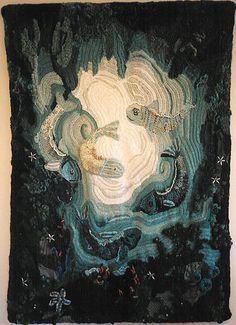 Underwater Grotto freeform crochet