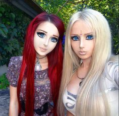Real life barbie and real life anime girl