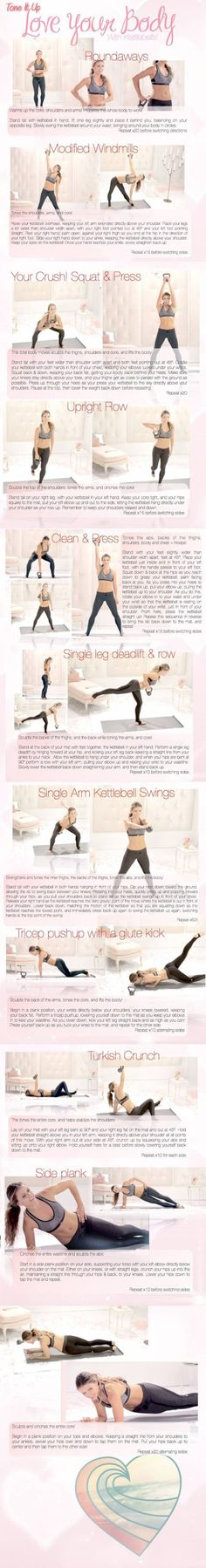 26 #Kettlebell Exercises to Tone Every Inch of Your Bod ...