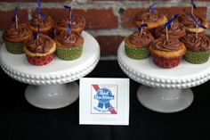 Pabst Blue Ribbon Beer Cupcake - for the beer lover in your family