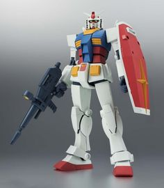 ROBOT DAMASHII GUNDAM SIDE MS RX-78-2 ver 4.92inch 125mm ABS&PVC Action Figure #Bandai