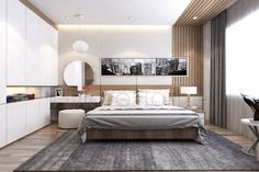 homes interior ideas Modern Bedroom, Room Interior, Bedroom Layouts, Bedroom Bed Design, Apartment Design, Minimalist Bedroom, Apartment Interior, Bedroom Design, Home Bedroom