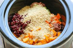 Easy Crockpot Dog Food - DIY dog food can easily be made right in the slow cooker. It's healthier and cheaper than store-bought, and it's freezer-friendly! Food Dog, Make Dog Food, Puppy Food, Diy Food, Food Ideas, Dog Treat Recipes, Baby Food Recipes, Dog Food Recipes With Venison, Dog Cat