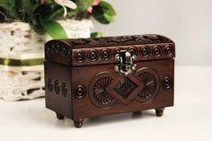 Wooden box wedding, Storage box, Jewelry wood box, Wood box, Gift box, Rustic small box, Small wooden box, Keepsake box by WoodenLook on Etsy