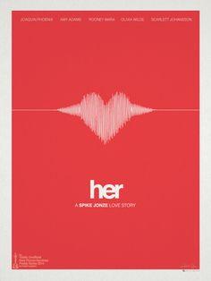 """Her"" minimalist movie poster by Hunter Langston"