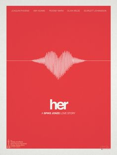 """Her"" minimalist movie poster by Hunter Langston, via Behance"