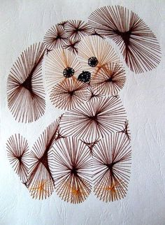 The Latest Trend in Embroidery – Embroidery on Paper - Embroidery Patterns Embroidery Cards, Embroidery Stitches, Embroidery Patterns, Hand Embroidery, String Art Templates, String Art Patterns, Card Patterns, Stitch Patterns, Doily Patterns