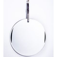 'Benjamin Round' Leather strapping belt, beveled [shaving/vanity] mirror... p.s. travels well..
