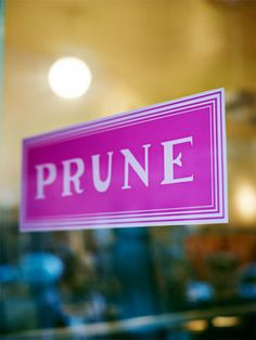"Chef Gabrielle Hamilton's restaurant ""Prune"" in the East Village."