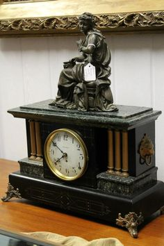 Antique Mantle Clock.  Mine is almost exactly like this one.  I believe it was a wedding gift to my parents, who were married in Charleston, SC, October 1919.  It holds very special memories.....