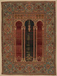 Prayer carpet, late 16th century; Ottoman  Attributed to Bursa or Istanbul, Turkey