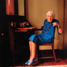 Dame Agatha Christie, 1974  I've never seen this picture of her before today.