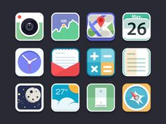 Flat Icon by Chiou / Flat design / #flat #design #icon