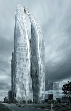 Futuristic Skyscraper, Future Architecture, 800m Tower Project - MAD Architects