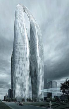 Futuristic Skyscraper, Future Architecture, 800m Tower Project - MAD Architects #architecture ☮k☮