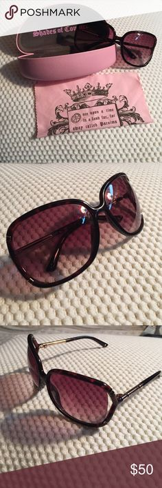 Juicy Couture sunglasses Juicy Couture sunglasses. Tortoise shell frames  with gold accents. Comes with 564c134cb6