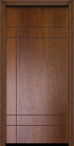 Contemporary Modern Exterior door by GlassCraft in Single Door in Fiberglass and the texture is Mahogany
